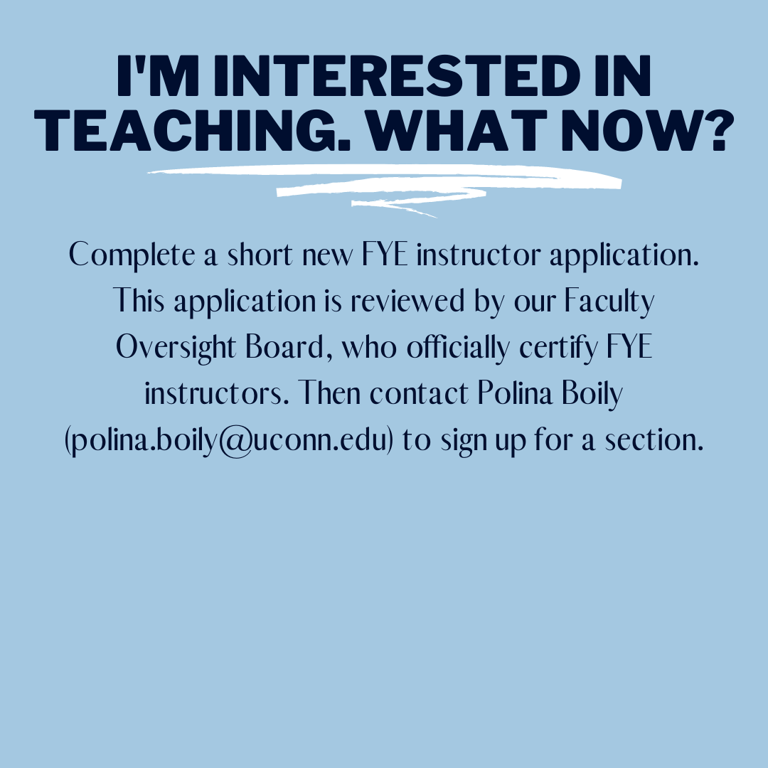 I'm interested in teaching.