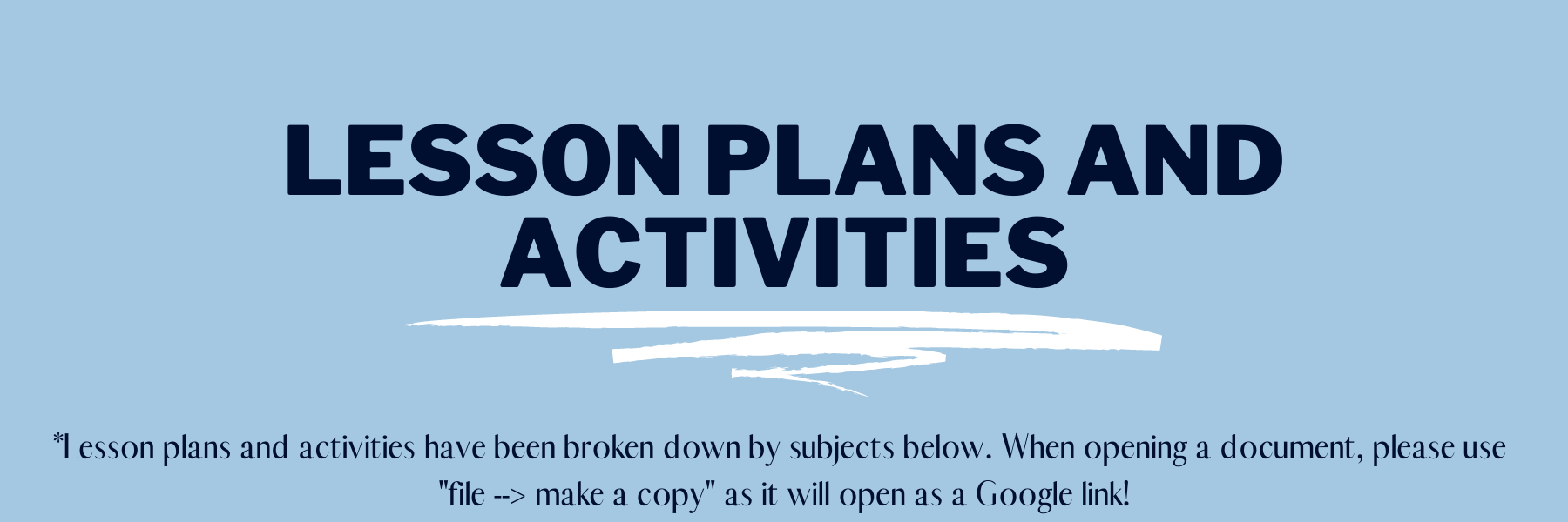 Lesson Plans and Activities